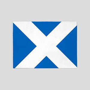 Scotland: Scottish Flag (Saltire) 5'x7'Area Rug