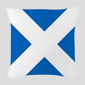 Scotland: Scottish Flag (Salti Woven Throw Pillow
