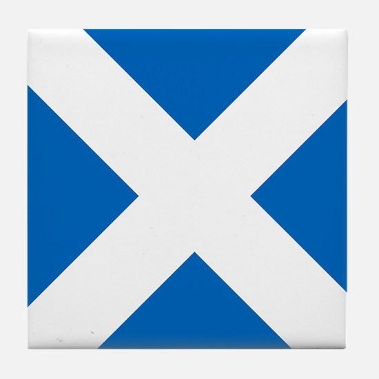 Scotland: Scottish Flag (Saltire) Tile Coaster