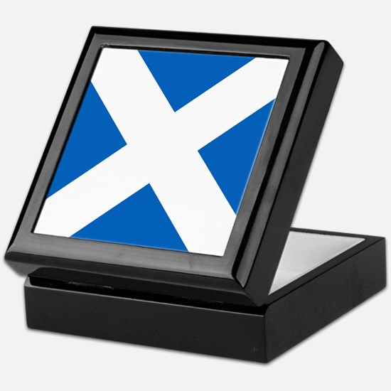 Scotland: Scottish Flag (Saltire) Keepsake Box