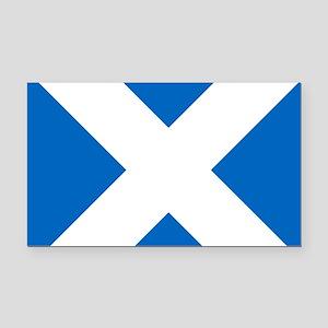 Scotland: Scottish Flag (Salt Rectangle Car Magnet