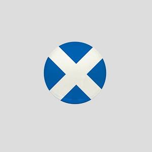 Scotland: Scottish Flag (Saltire) Mini Button