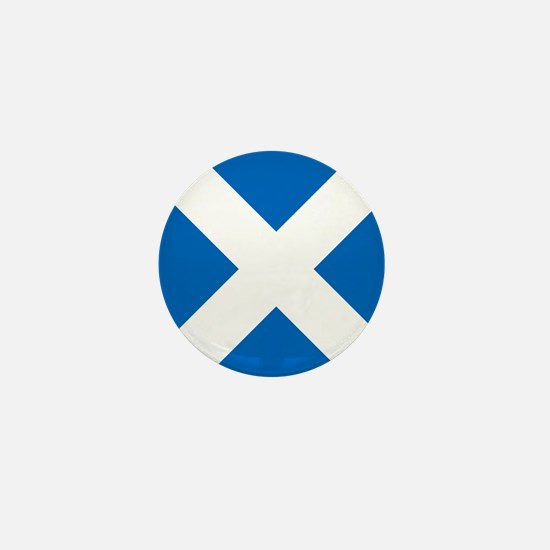 Scotland: Scottish Flag (Saltire) Mini Button