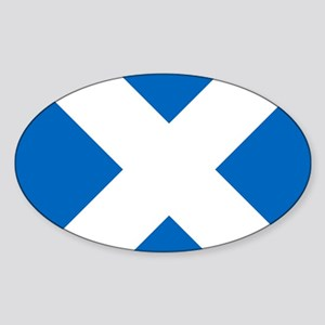 Scotland: Scottish Flag (Saltire) Sticker (Oval)