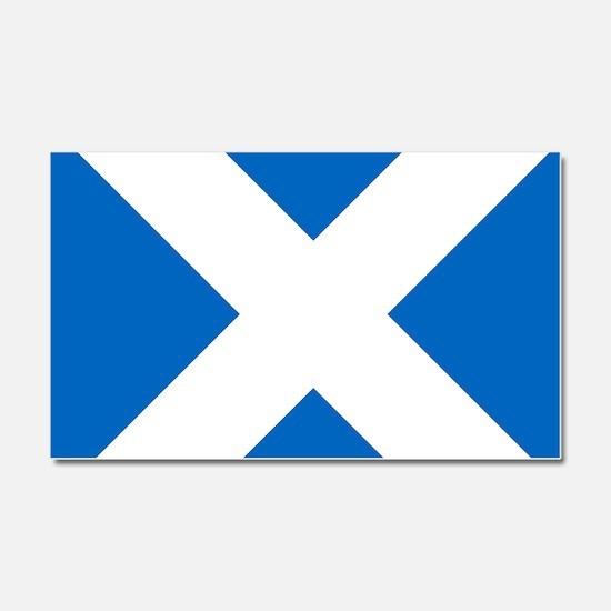 Scotland: Scottish Flag (Saltir Car Magnet 20 x 12