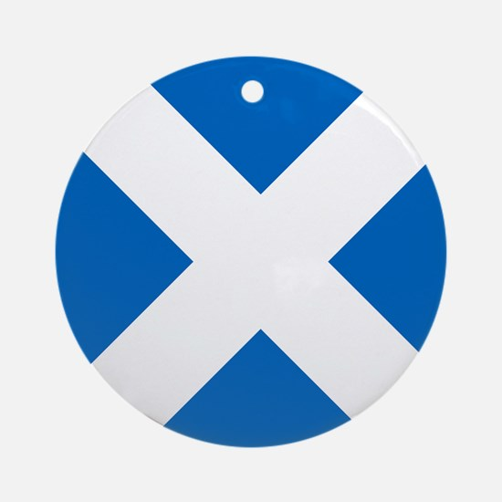 Scotland: Scottish Flag (Saltire) Round Ornament