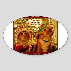 Meoowy Christmas Sticker