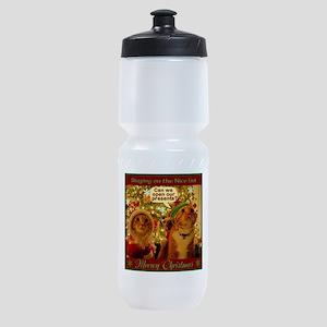 Meoowy Christmas Sports Bottle