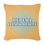 Repeal Obamacare Woven Throw Pillow