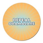 Repeal Obamacare Round Car Magnet