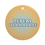 Repeal Obamacare Round Ornament