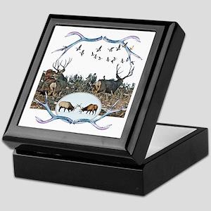 Deer elk and geese Keepsake Box
