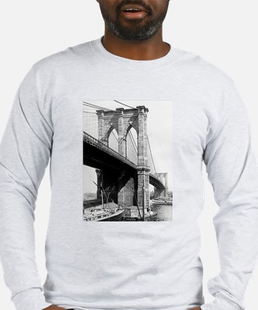 Brooklyn Bridge 1896 Long Sleeve T-Shirt