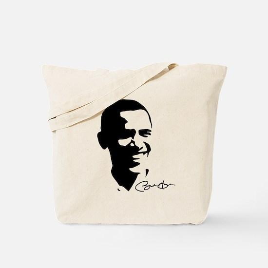 Obama Autographed: Tote Bag