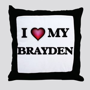 I love Brayden Throw Pillow