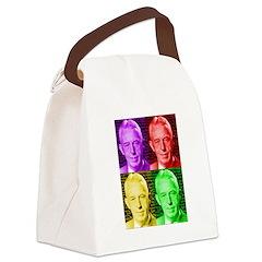 Warhol-esque Bill Canvas Lunch Bag