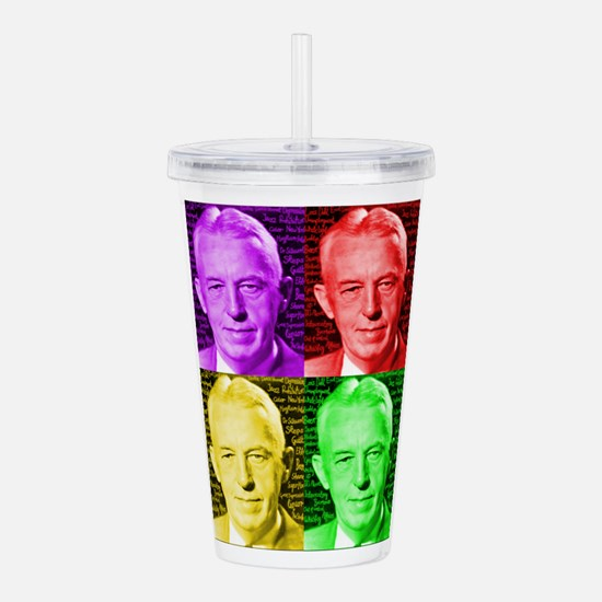 Warhol-esque Bill Acrylic Double-wall Tumbler