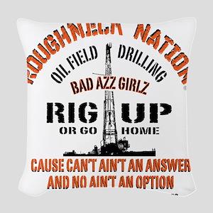 RIG UP BAD AZZ GIRLZ Woven Throw Pillow