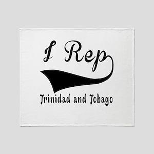 I Rep Trinidad and Tobago Throw Blanket