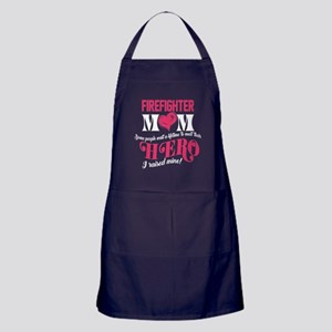 Super Firefighter Mom Shirt Apron (dark)