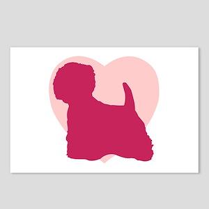 West Highland White Terrier Valentine's Day Postca