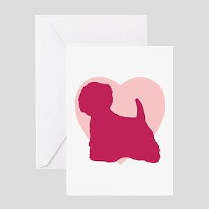 West Highland White Terrier Valentine's Day Greeti