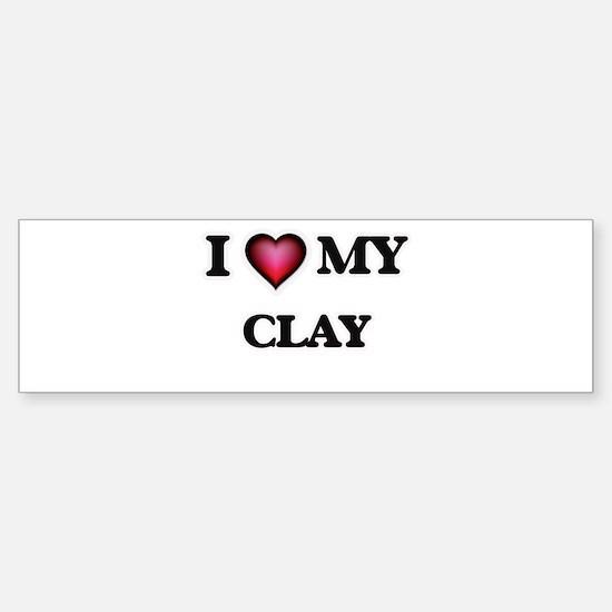 I love Clay Bumper Bumper Bumper Sticker
