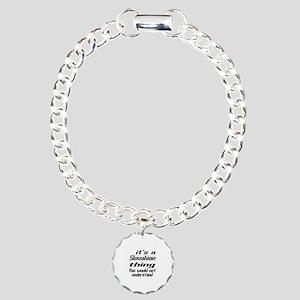 It Is Slovakian Thing Yo Charm Bracelet, One Charm