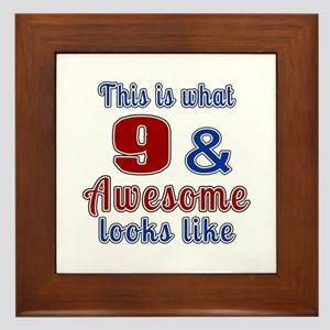 9 Awesome Birthday Designs Framed Tile
