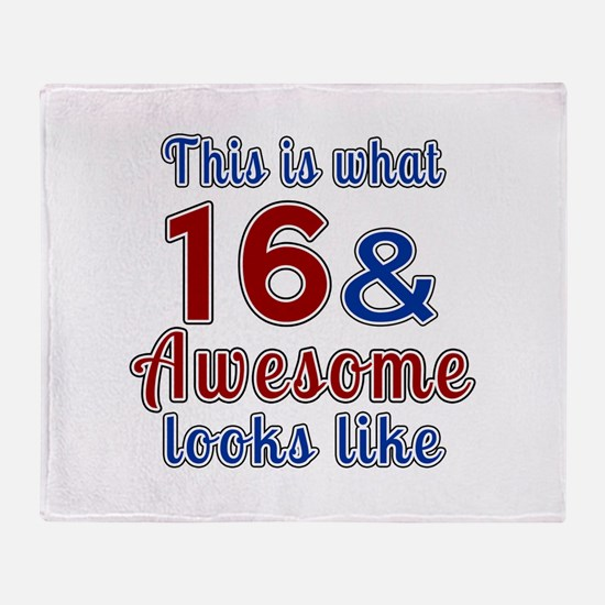 16 Awesome Birthday Designs Throw Blanket