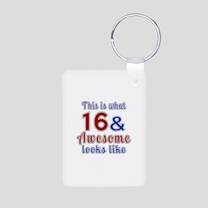 16 Awesome Birthday Design Aluminum Photo Keychain