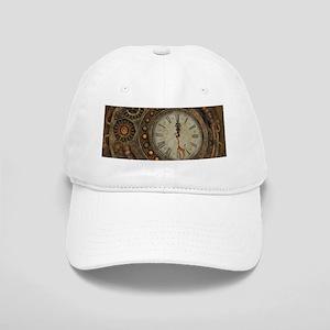 Steampunk, awesome clock Baseball Cap