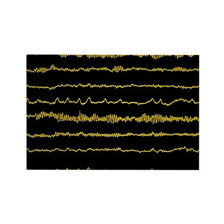 the brains alpha waves - Rectangle Magnet (10 pk)