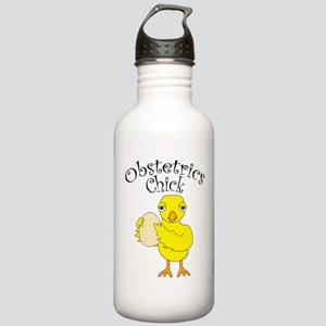 Obstetrics Chick Text Water Bottle