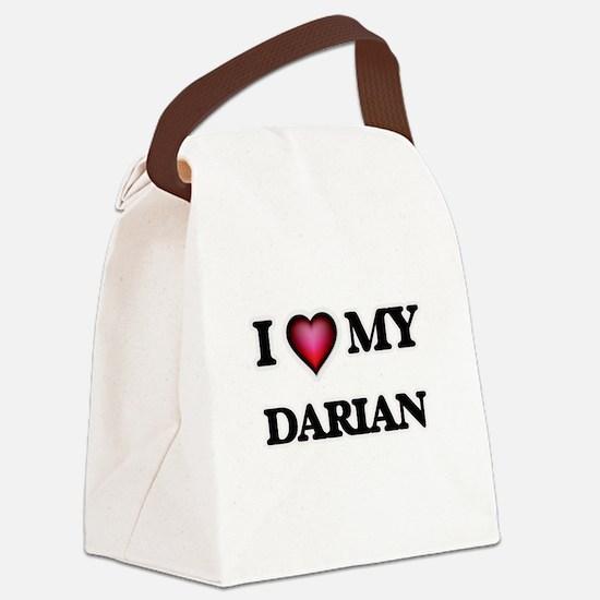 I love Darian Canvas Lunch Bag