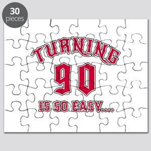 Turning 90 Is So Easy Birthday Puzzle