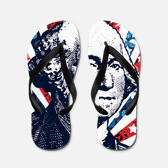 sequin george washington Flip Flops