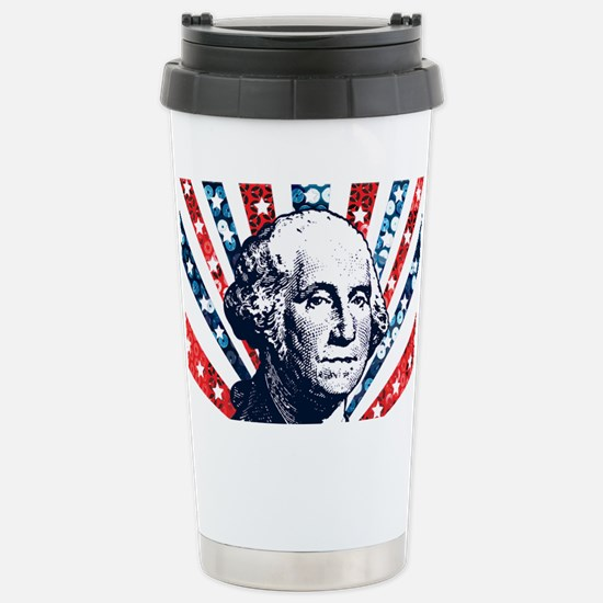 sequin george washingto Stainless Steel Travel Mug