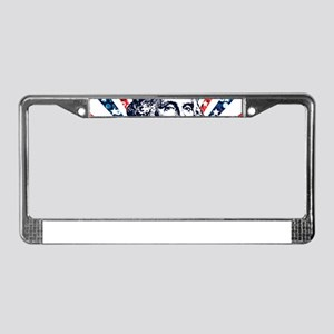 sequin george washington License Plate Frame