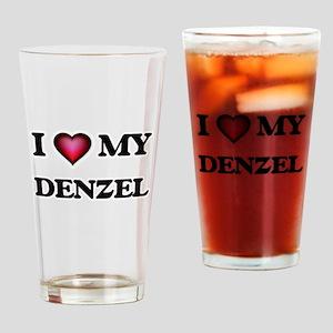I love Denzel Drinking Glass
