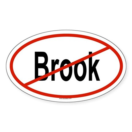 BROOK Oval Sticker