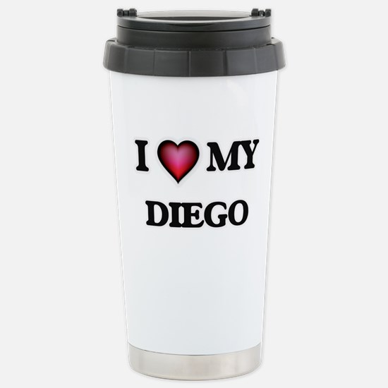 I love Diego Stainless Steel Travel Mug