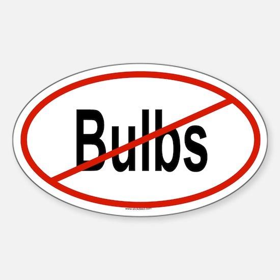 BULBS Oval Decal