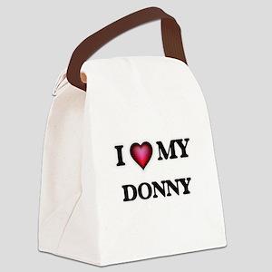 I love Donny Canvas Lunch Bag