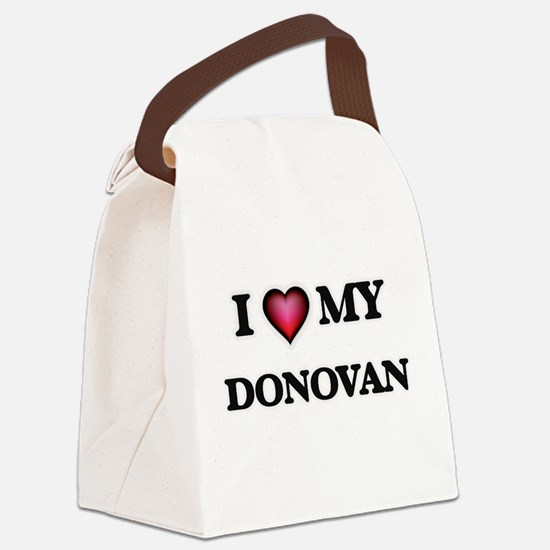 I love Donovan Canvas Lunch Bag