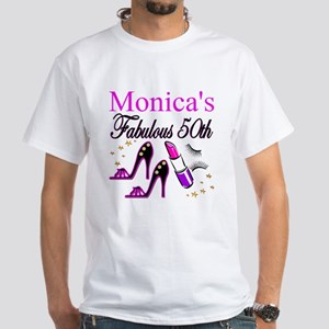 FABULOUS 50TH White T-Shirt