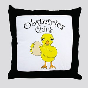 Obstetrics Chick Text Throw Pillow