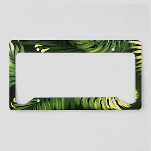 Hawaii Aloha Black Palm Vinta License Plate Holder