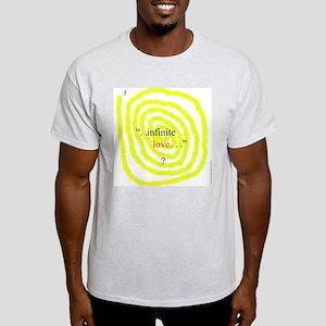 115c. infinite love ? Ash Grey T-Shirt