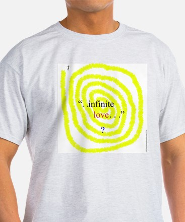115c. infinite love ? Ash Grey T-Shirt